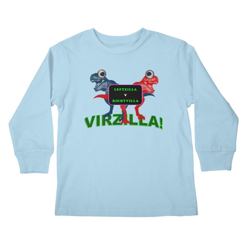 Virzilla Kids Longsleeve T-Shirt by PGMercher  - A Pretty Good Merch Shop