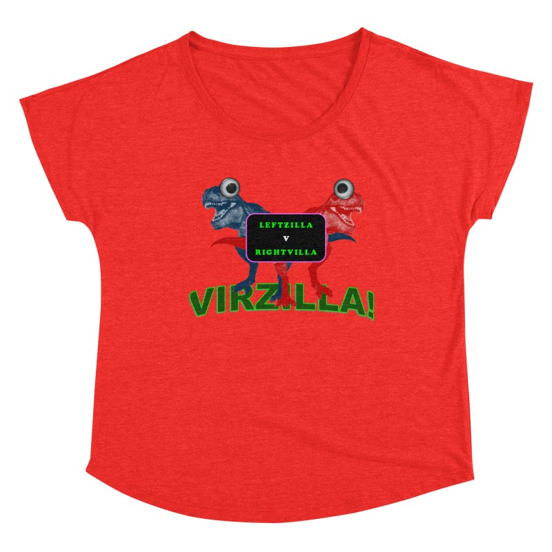 Virzilla Women's Scoop Neck by PGMercher  - A Pretty Good Merch Shop