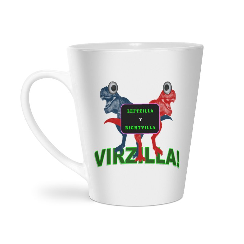Virzilla Accessories Latte Mug by PGMercher  - A Pretty Good Merch Shop