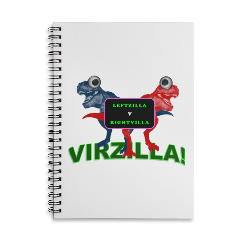 Virzilla Accessories Lined Spiral Notebook by PGMercher  - A Pretty Good Merch Shop