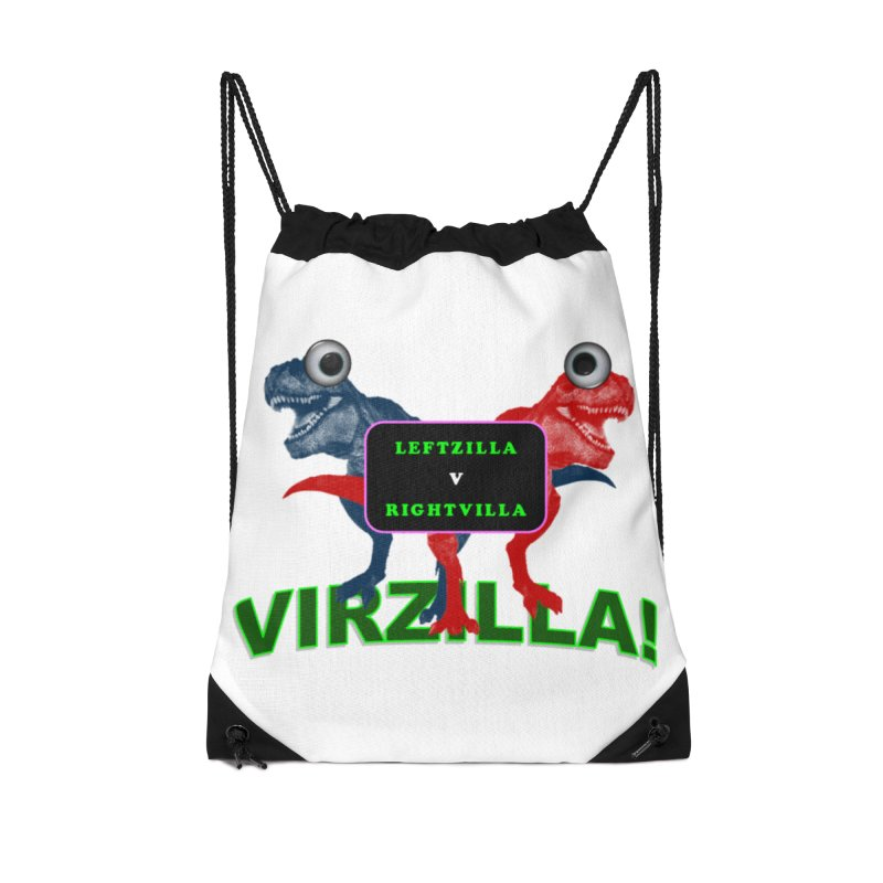 Virzilla Accessories Drawstring Bag Bag by PGMercher  - A Pretty Good Merch Shop