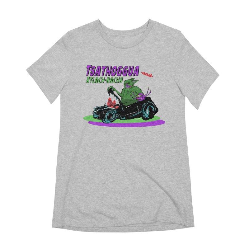 Tsathoggua & Atlach-Nacha Women's Extra Soft T-Shirt by pgttcm's Artist Shop