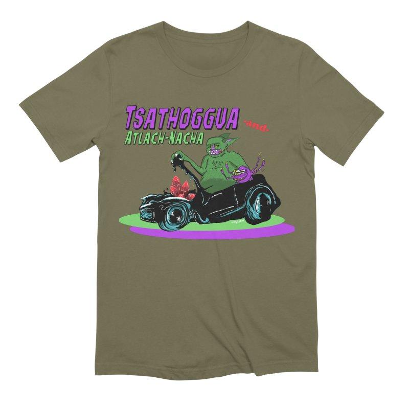 Tsathoggua & Atlach-Nacha Men's Extra Soft T-Shirt by pgttcm's Artist Shop