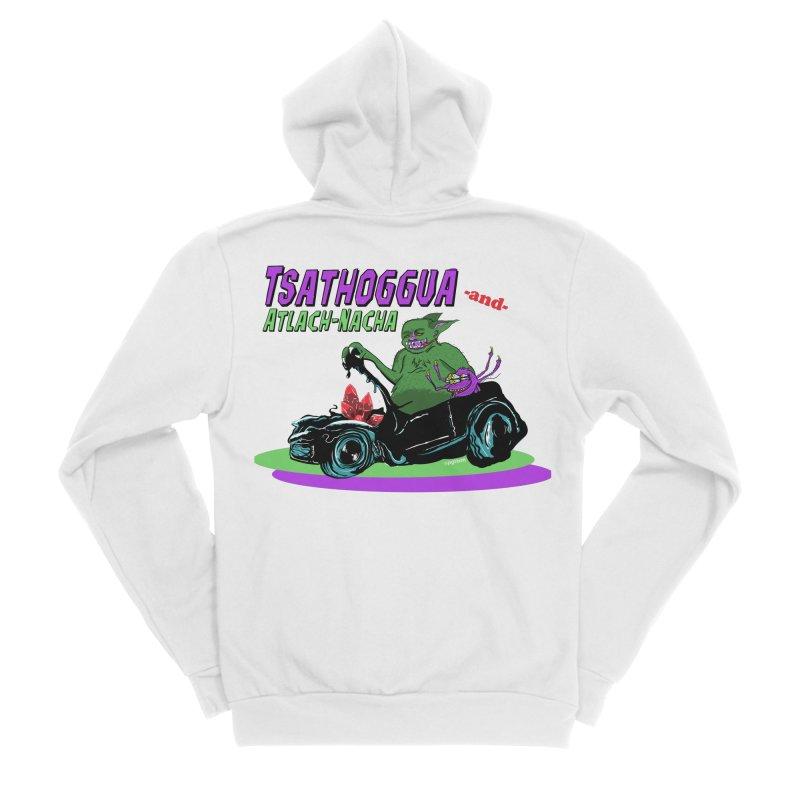 Tsathoggua & Atlach-Nacha Women's Sponge Fleece Zip-Up Hoody by pgttcm's Artist Shop