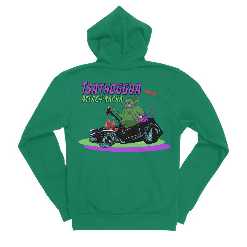 Tsathoggua & Atlach-Nacha Men's Sponge Fleece Zip-Up Hoody by pgttcm's Artist Shop