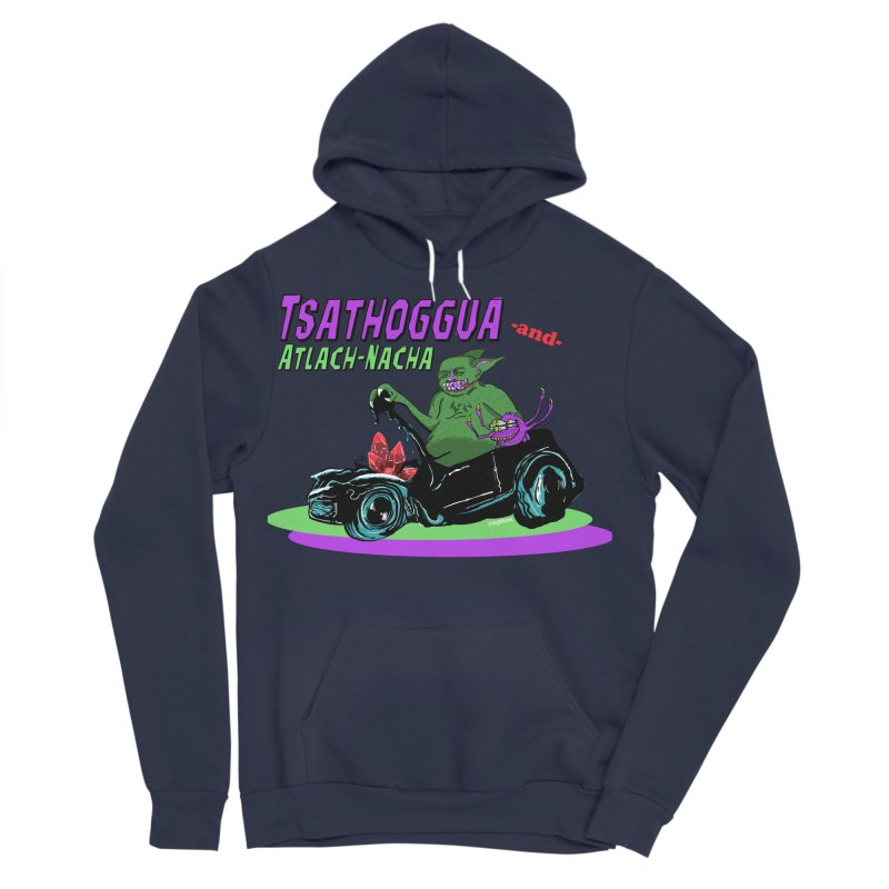 Tsathoggua & Atlach-Nacha Men's Sponge Fleece Pullover Hoody by pgttcm's Artist Shop