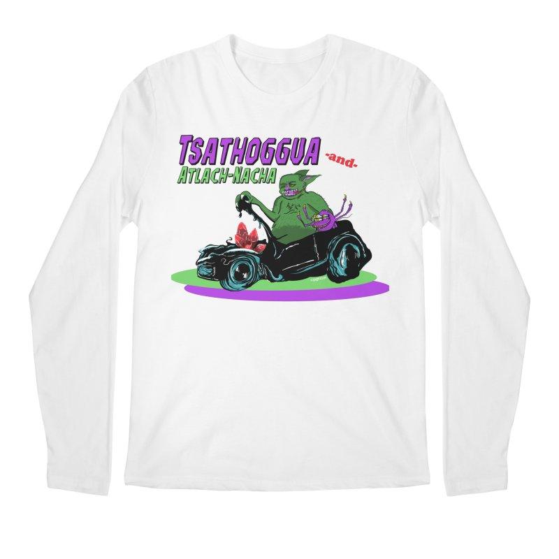 Tsathoggua & Atlach-Nacha Men's Regular Longsleeve T-Shirt by pgttcm's Artist Shop