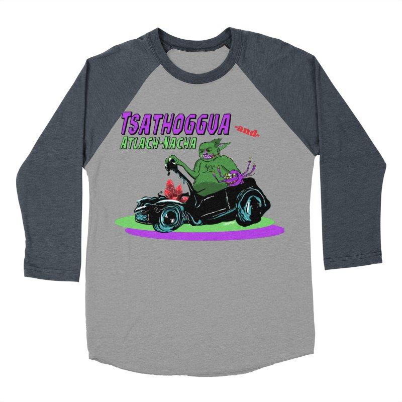 Tsathoggua & Atlach-Nacha Men's Baseball Triblend Longsleeve T-Shirt by pgttcm's Artist Shop