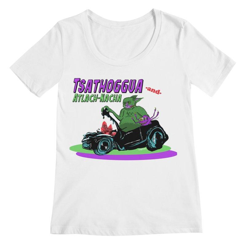 Tsathoggua & Atlach-Nacha Women's Regular Scoop Neck by pgttcm's Artist Shop