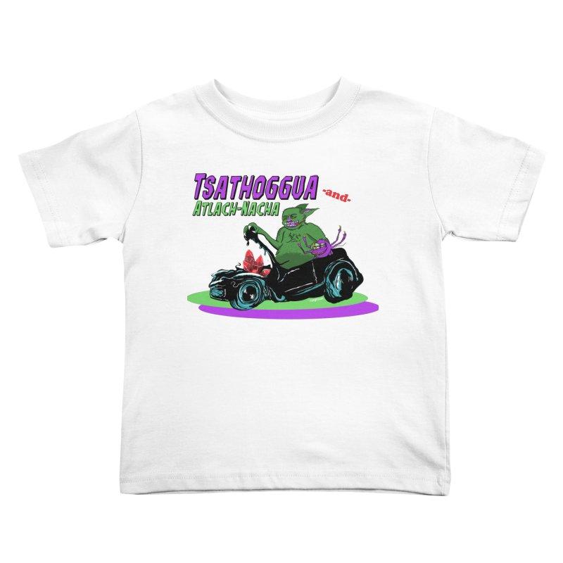 Tsathoggua & Atlach-Nacha Kids Toddler T-Shirt by pgttcm's Artist Shop