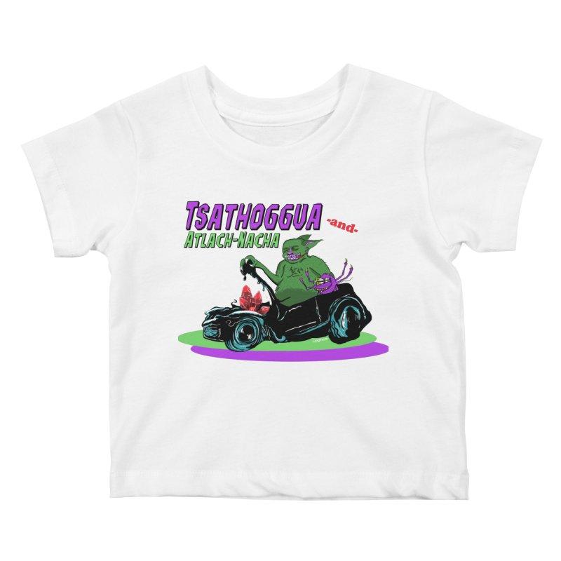 Tsathoggua & Atlach-Nacha Kids Baby T-Shirt by pgttcm's Artist Shop