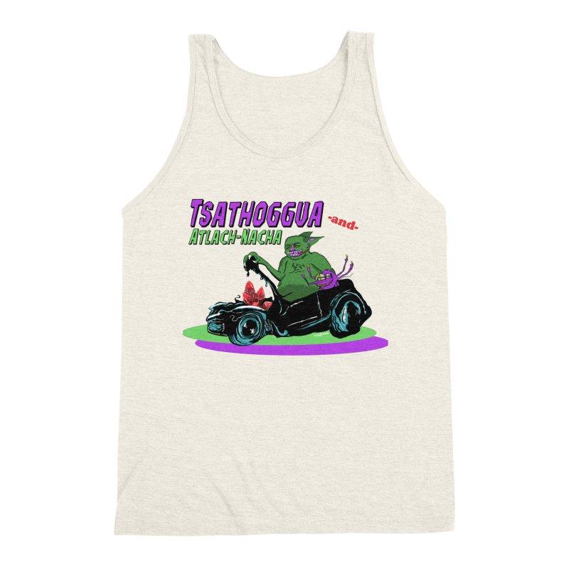 Tsathoggua & Atlach-Nacha Men's Triblend Tank by pgttcm's Artist Shop