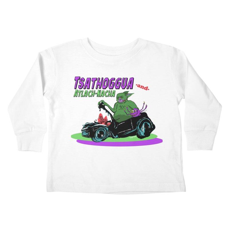 Tsathoggua & Atlach-Nacha Kids Toddler Longsleeve T-Shirt by pgttcm's Artist Shop