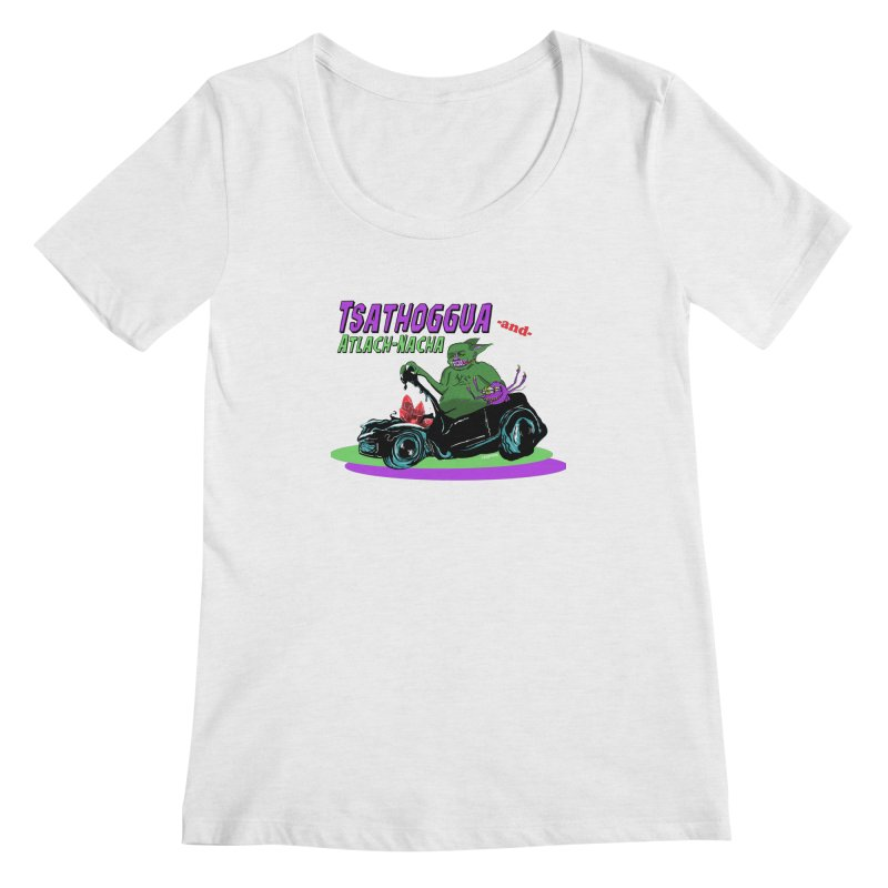Tsathoggua & Atlach-Nacha Women's Regular Scoop Neck by pgttcm's Artist Shop