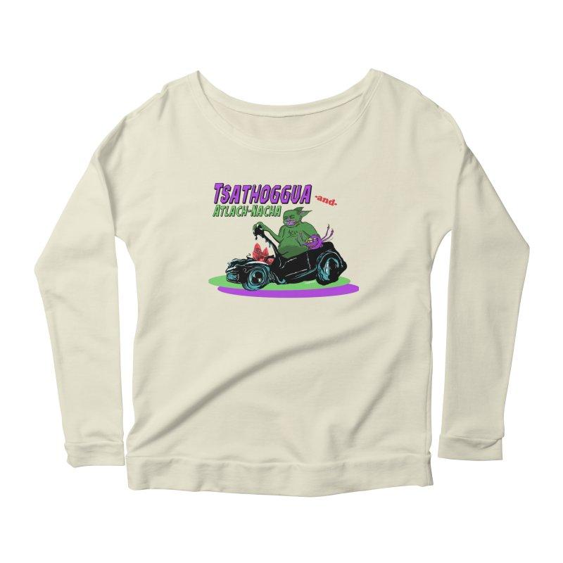 Tsathoggua & Atlach-Nacha Women's Scoop Neck Longsleeve T-Shirt by pgttcm's Artist Shop