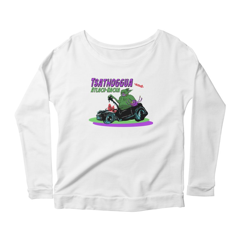 Tsathoggua & Atlach-Nacha Women's Scoop Neck Longsleeve T-Shirt by pgttcm's Artist Shop