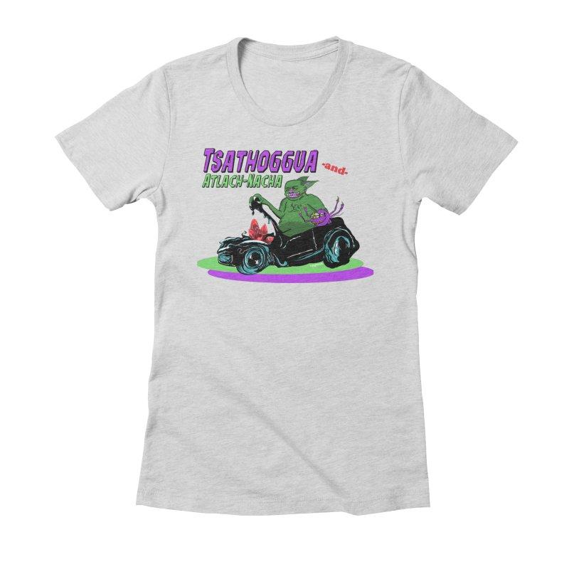 Tsathoggua & Atlach-Nacha Women's Fitted T-Shirt by pgttcm's Artist Shop