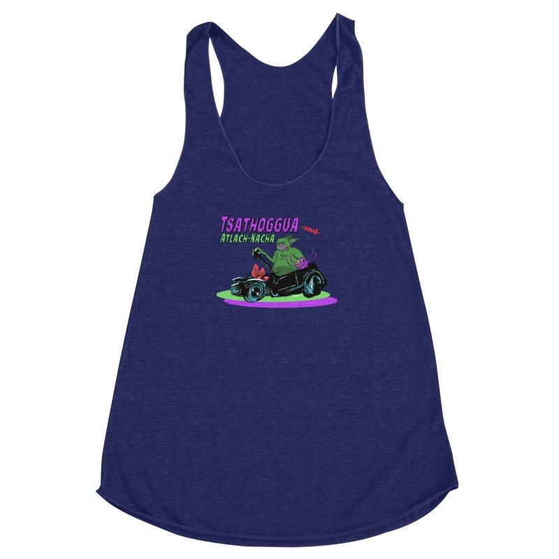 Tsathoggua & Atlach-Nacha Women's Racerback Triblend Tank by pgttcm's Artist Shop