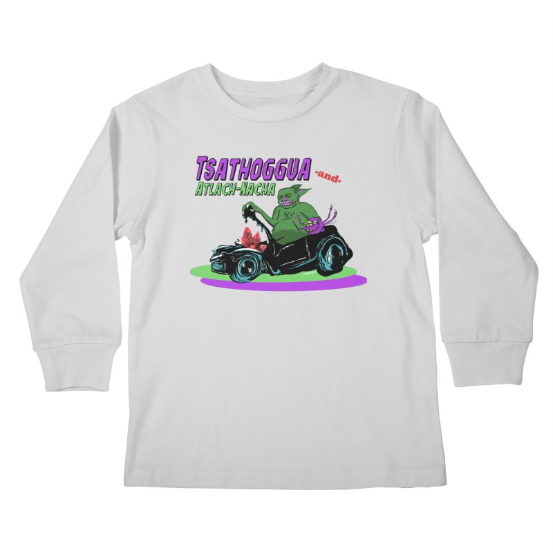 Tsathoggua & Atlach-Nacha Kids Longsleeve T-Shirt by pgttcm's Artist Shop
