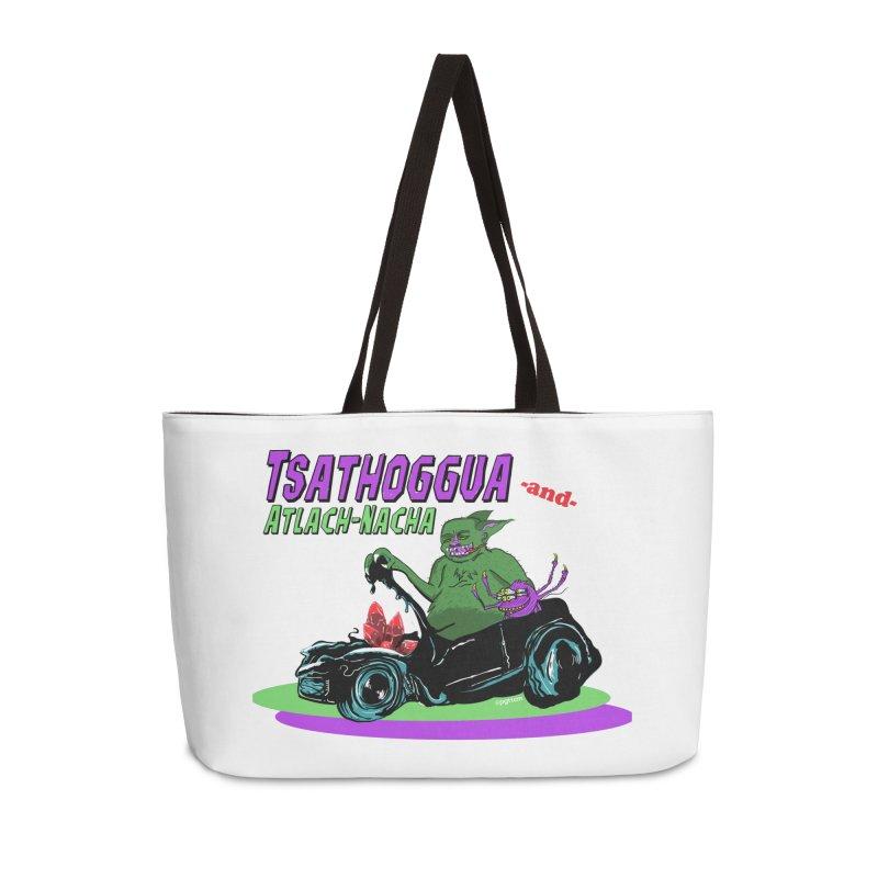 Tsathoggua & Atlach-Nacha Accessories Weekender Bag Bag by pgttcm's Artist Shop