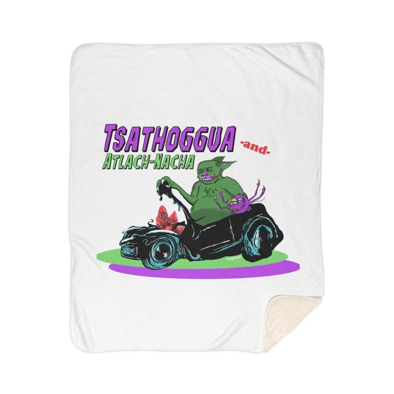 Tsathoggua & Atlach-Nacha Home Sherpa Blanket Blanket by pgttcm's Artist Shop