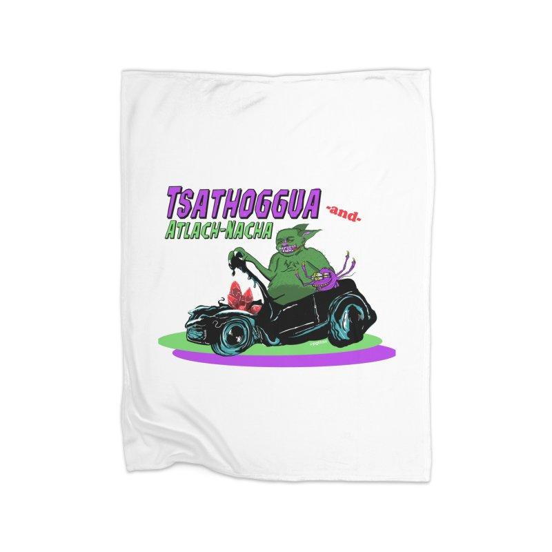 Tsathoggua & Atlach-Nacha Home Fleece Blanket Blanket by pgttcm's Artist Shop