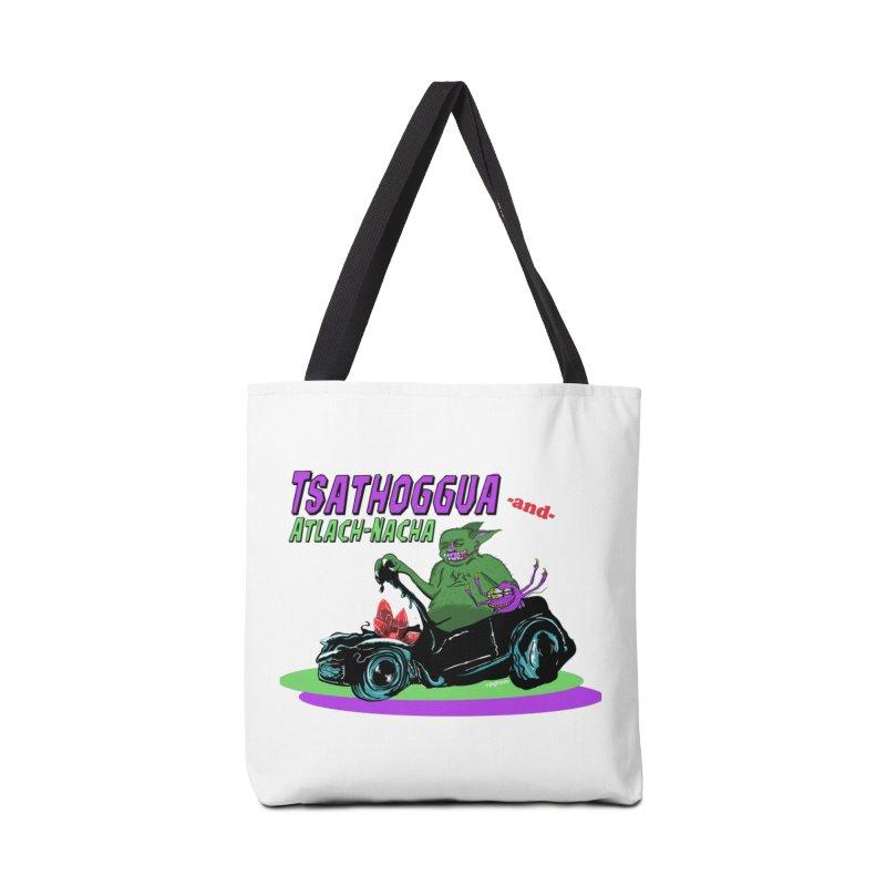 Tsathoggua & Atlach-Nacha Accessories Tote Bag Bag by pgttcm's Artist Shop
