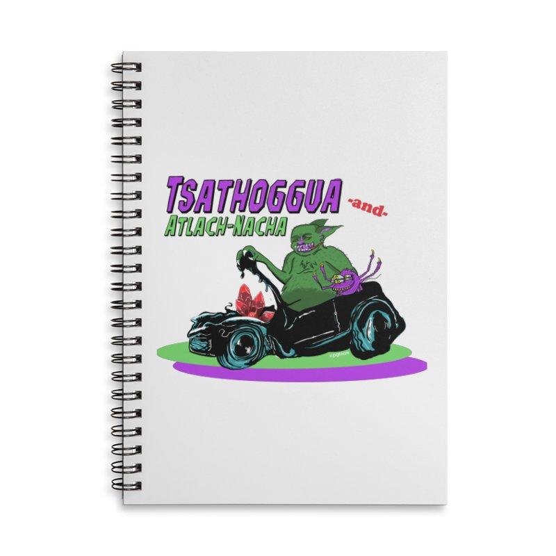 Tsathoggua & Atlach-Nacha Accessories Lined Spiral Notebook by pgttcm's Artist Shop