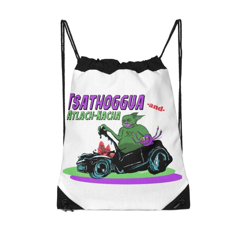 Tsathoggua & Atlach-Nacha Accessories Drawstring Bag Bag by pgttcm's Artist Shop