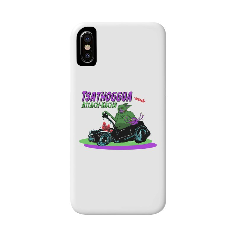 Tsathoggua & Atlach-Nacha Accessories Phone Case by pgttcm's Artist Shop