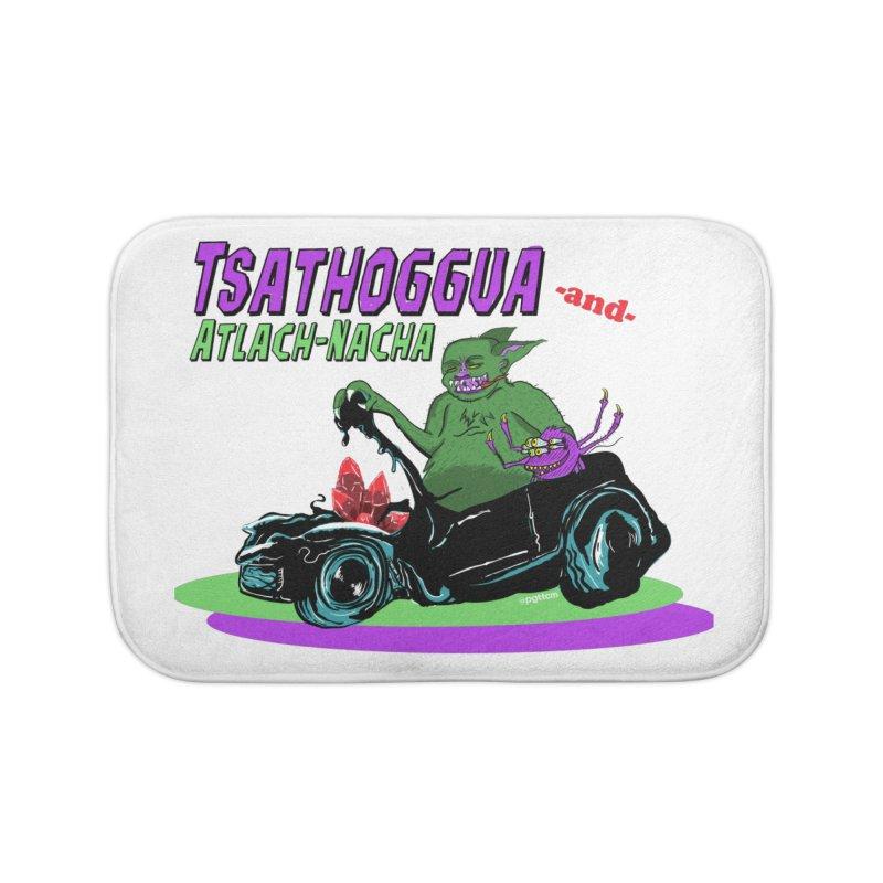 Tsathoggua & Atlach-Nacha Home Bath Mat by pgttcm's Artist Shop