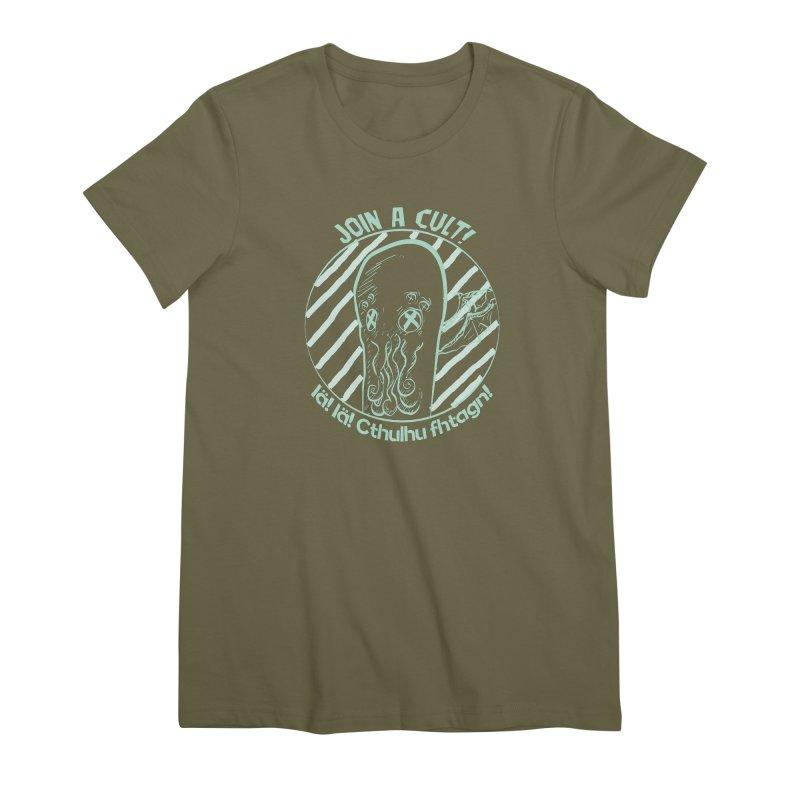 Join A Cult 2019 Green Women's Premium T-Shirt by pgttcm's Artist Shop