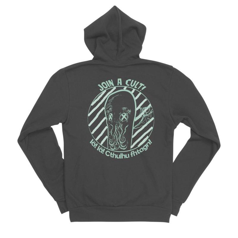 Join A Cult 2019 Green Men's Sponge Fleece Zip-Up Hoody by pgttcm's Artist Shop