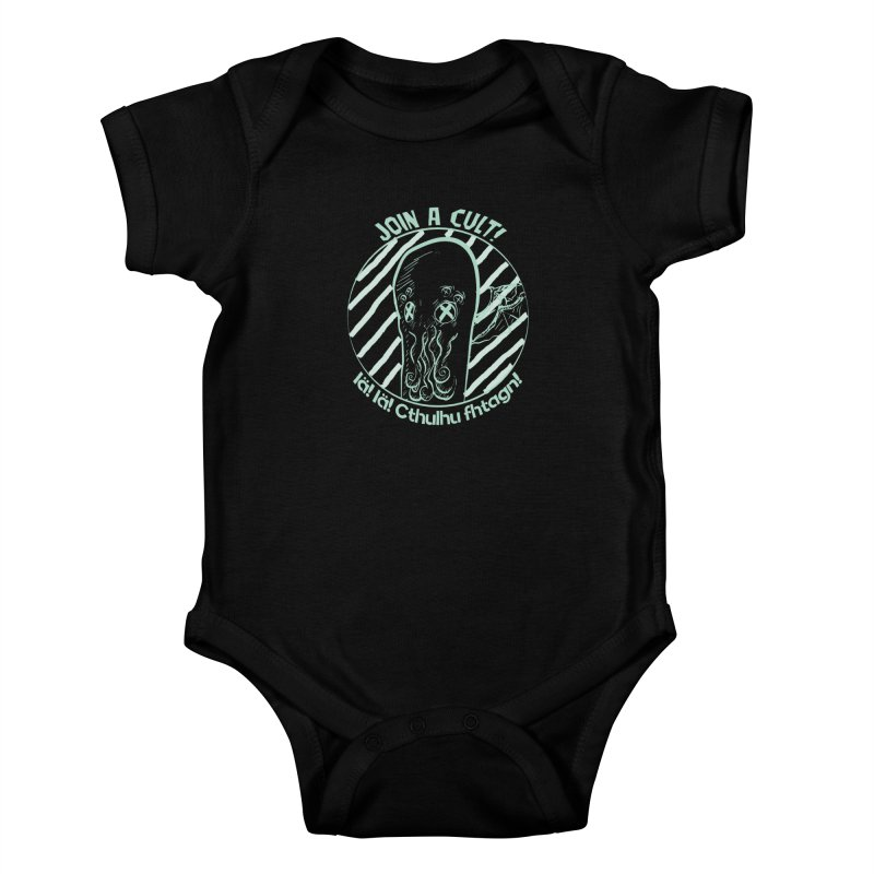 Join A Cult 2019 Green Kids Baby Bodysuit by pgttcm's Artist Shop