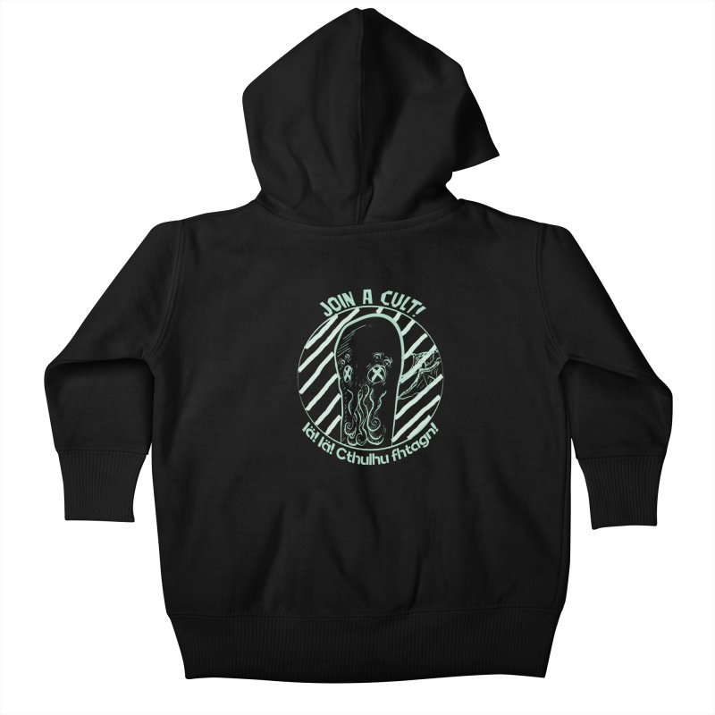 Join A Cult 2019 Green Kids Baby Zip-Up Hoody by pgttcm's Artist Shop