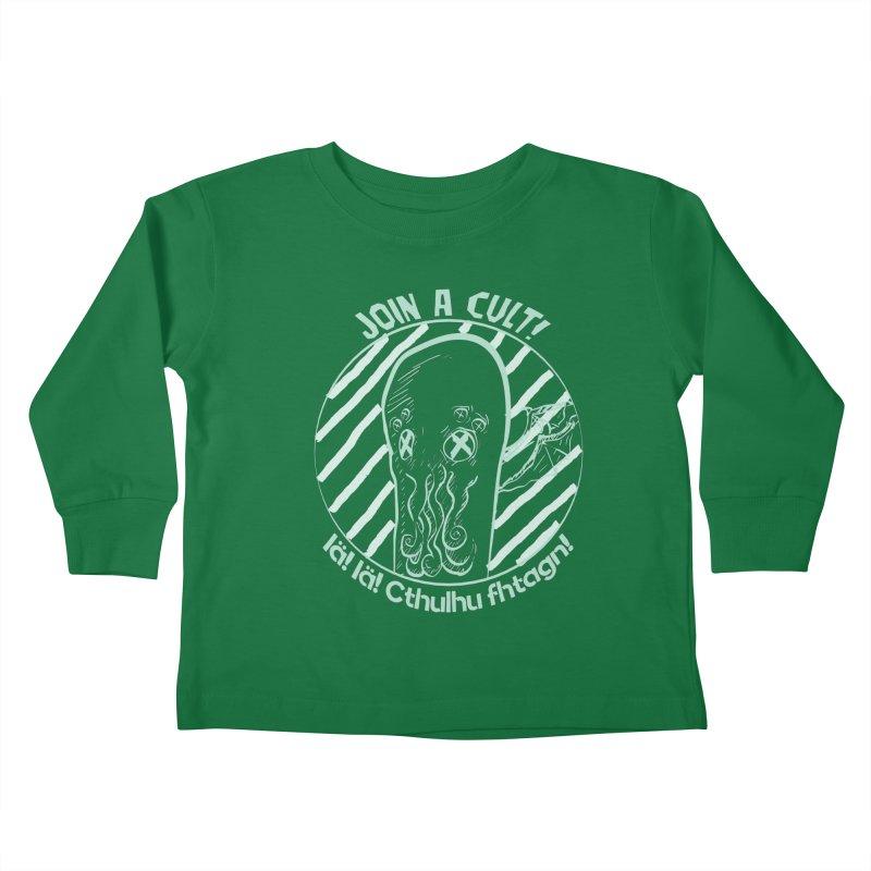 Join A Cult 2019 Green Kids Toddler Longsleeve T-Shirt by pgttcm's Artist Shop
