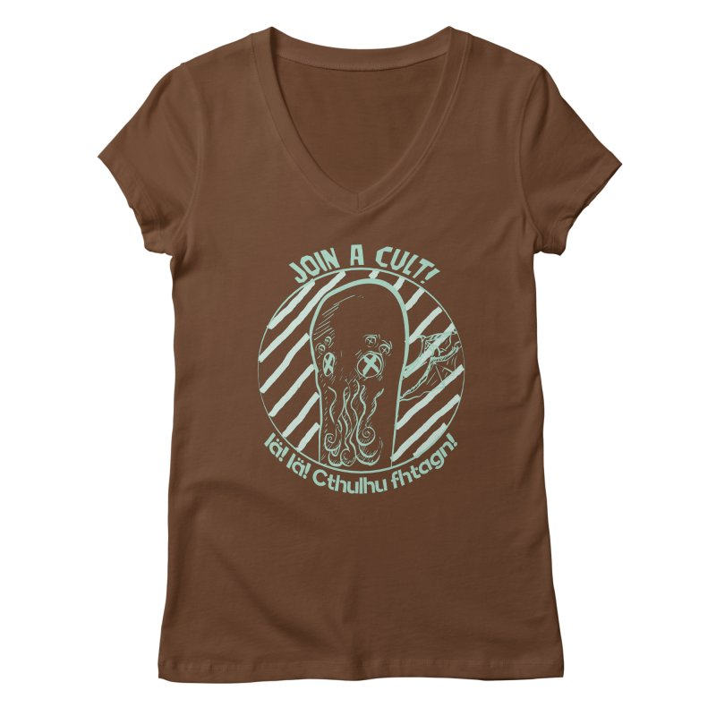 Join A Cult 2019 Green Women's Regular V-Neck by pgttcm's Artist Shop