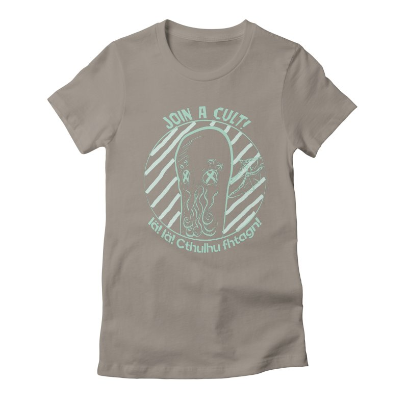 Join A Cult 2019 Green Women's Fitted T-Shirt by pgttcm's Artist Shop