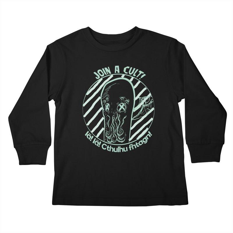 Join A Cult 2019 Green Kids Longsleeve T-Shirt by pgttcm's Artist Shop