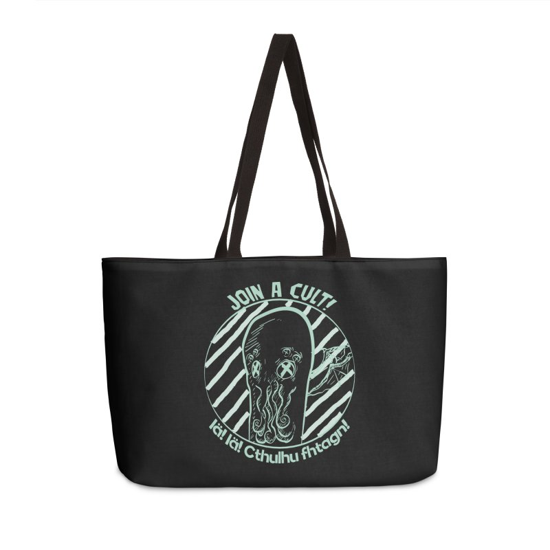 Join A Cult 2019 Green Accessories Weekender Bag Bag by pgttcm's Artist Shop