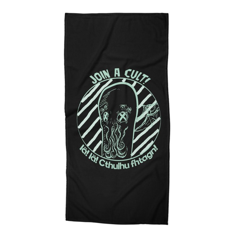 Join A Cult 2019 Green Accessories Beach Towel by pgttcm's Artist Shop