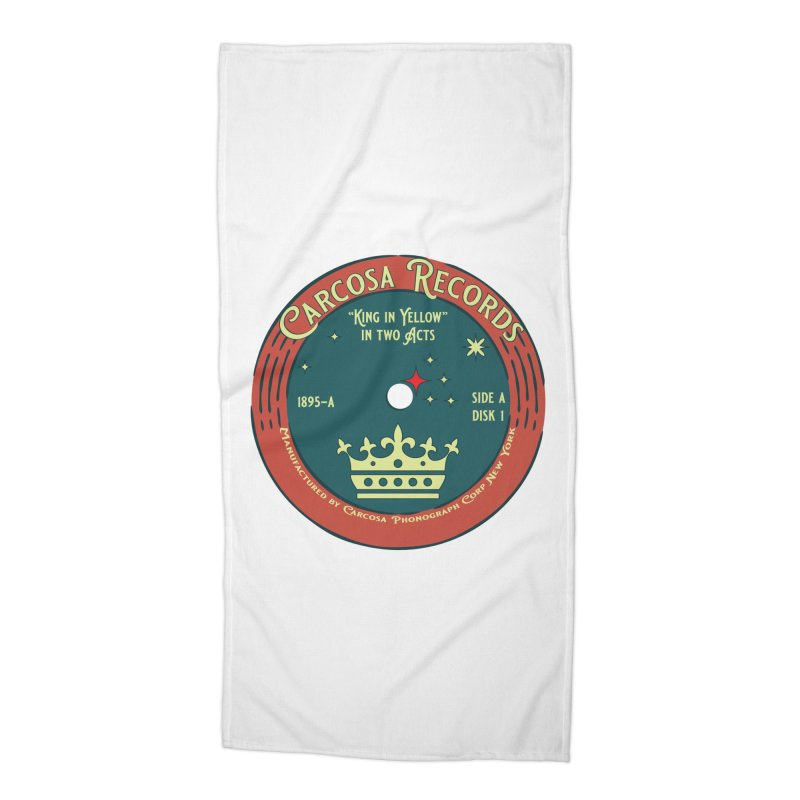 Carcosa Records Accessories Beach Towel by pgttcm's Artist Shop