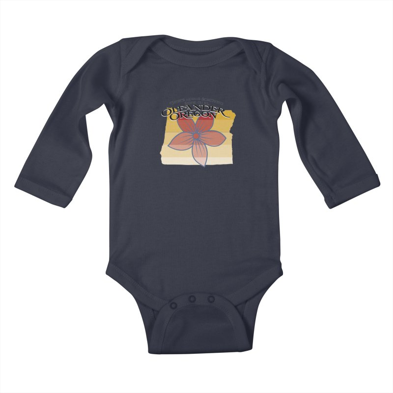 Oleander Oregon Kids Baby Longsleeve Bodysuit by pgttcm's Artist Shop