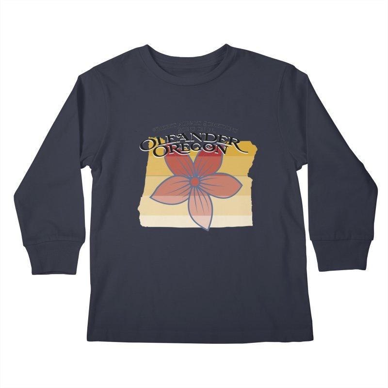 Oleander Oregon Kids Longsleeve T-Shirt by pgttcm's Artist Shop