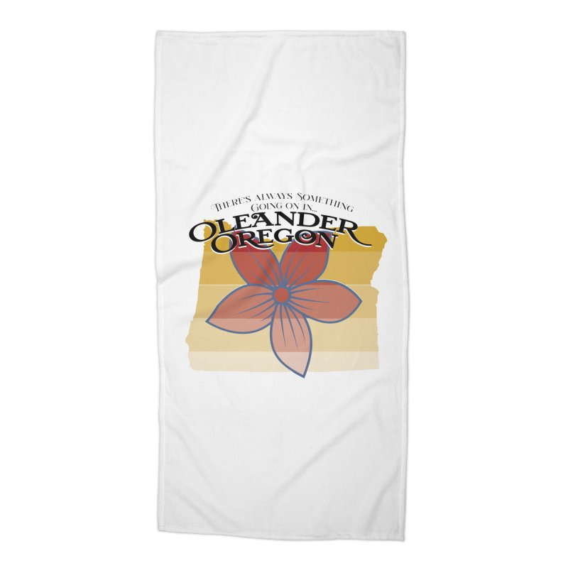 Oleander Oregon Accessories Beach Towel by pgttcm's Artist Shop