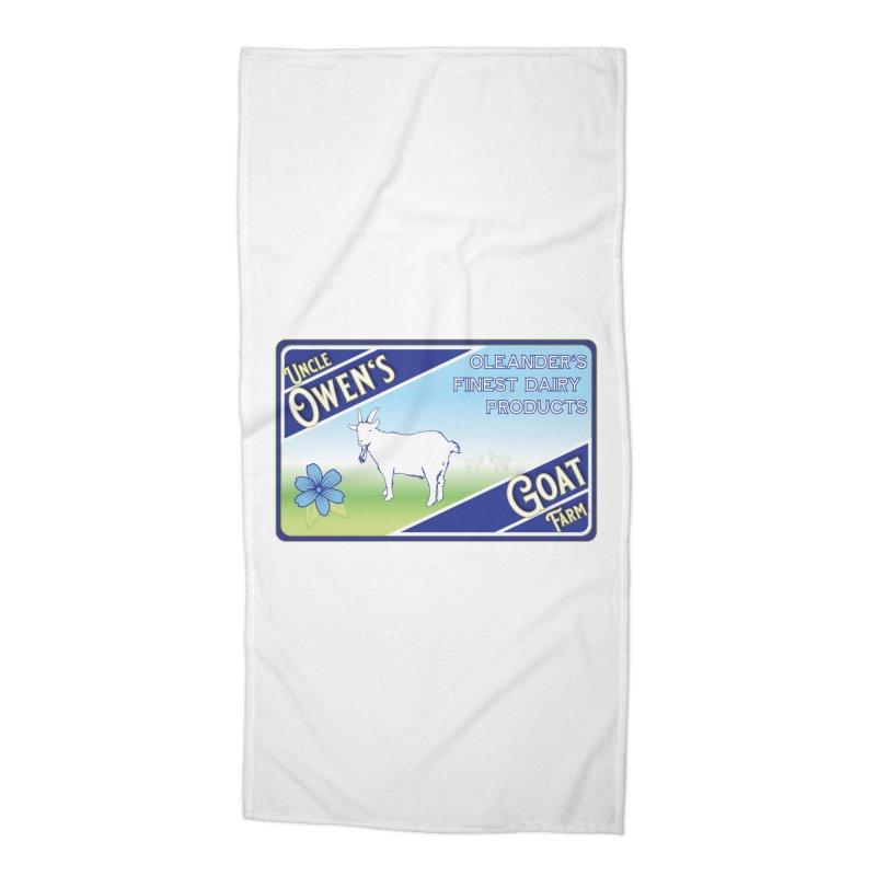 Uncle Owen's Goat Farm Accessories Beach Towel by pgttcm's Artist Shop