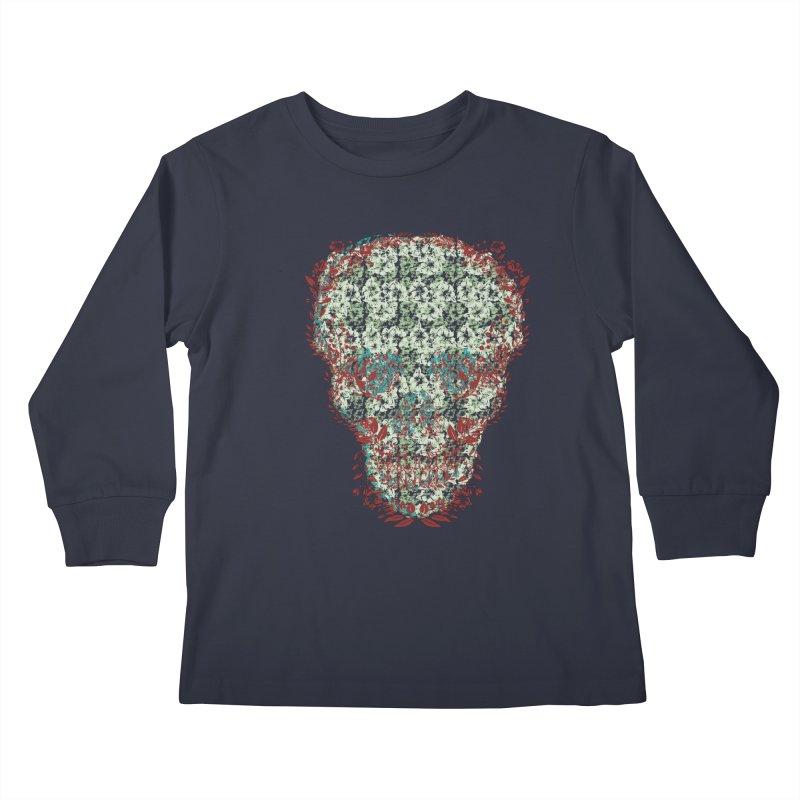 Floral Skull 2020 Kids Longsleeve T-Shirt by pgttcm's Artist Shop