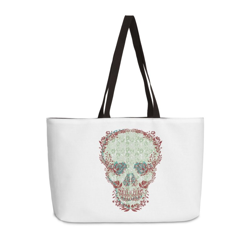 Floral Skull 2020 Accessories Bag by pgttcm's Artist Shop