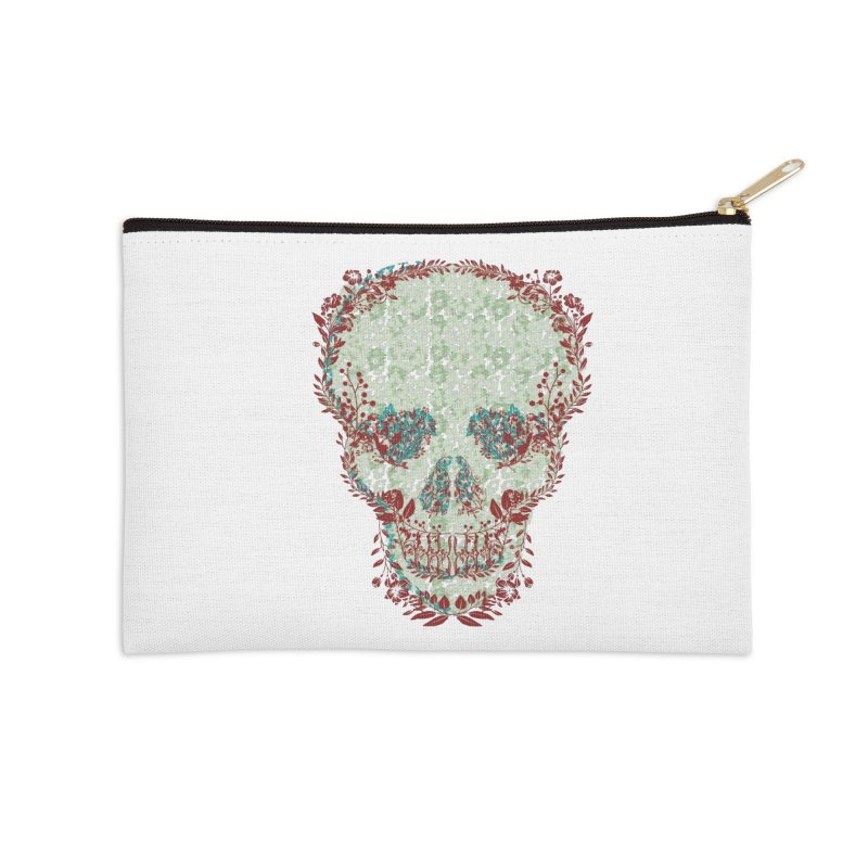 Floral Skull 2020 Accessories Zip Pouch by pgttcm's Artist Shop