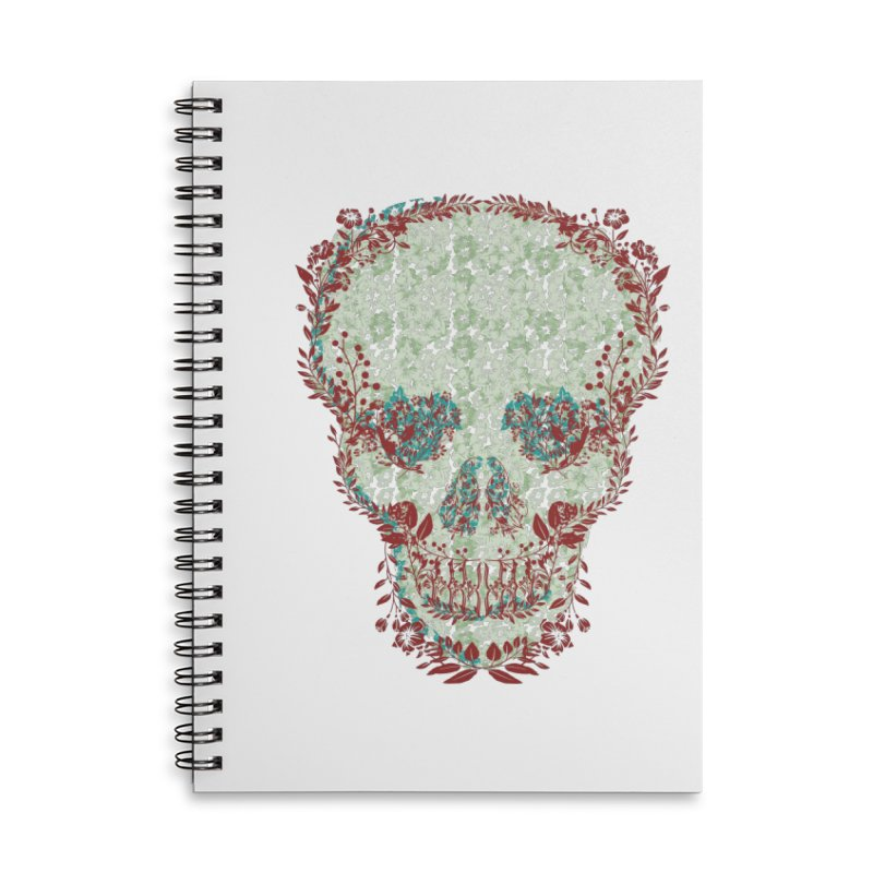 Floral Skull 2020 Accessories Notebook by pgttcm's Artist Shop